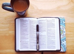 pen and Bible